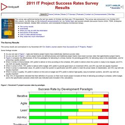 2011 IT Project Success Rates Survey Results