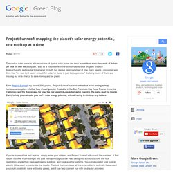Google Green Blog: Project Sunroof: mapping the planet's solar energy potential, one rooftop at a time
