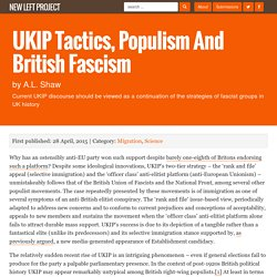 UKIP Tactics, Populism and British Fascism