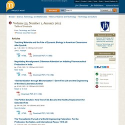 Technology and Culture-Volume 53, Number 1, January 2012