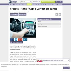 Project Titan : l'Apple Car est en panne