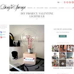 Design*Sponge » Blog Archive » diy project: valentine lightbulb