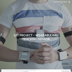 DIY Project – Wearable IMU Tracking Sensor