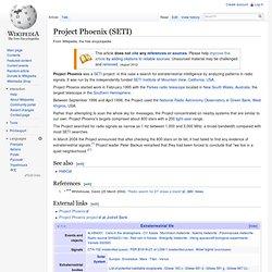 Project Phoenix (SETI)