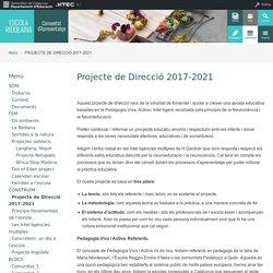 Projecte de Direcció 2017-2021