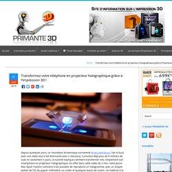 Un projecteur imprimé en 3D pour votre portable !