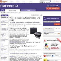Vidéo-projecteur : tout ce qu'il faut savoir sur le vidéoprojecteur