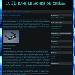 Projection alternée - la 3D dans le monde du cinéma.