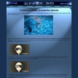 Projection alternée pour l'effet3D