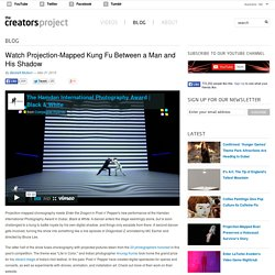 Watch Projection-Mapped Kung Fu Between a Man and His Shadow