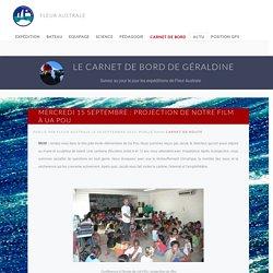 Mercredi 15 septembre : Projection de notre film à Ua Pou - Fleur Australe - Expédition maritime de Géraldine Danon et Philippe Poupon