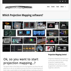 Best Projection Mapping Softwares