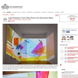 Light Projection Turns Plain Room into Geometric Maze - My Modern Metropolis - StumbleUpon