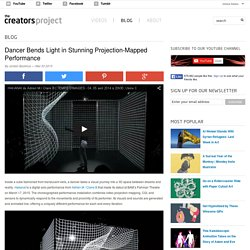 Dancer Bends Light in Stunning Projection-Mapped Performance
