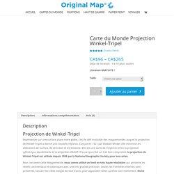 Carte du monde Projection Winkel-Tripel - Mappemonde Winkel-Tripel