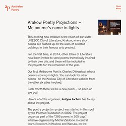 Krakow Poetry Projections – Melbourne's name in lights — Australian Poetry