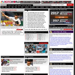 Rotoworld - Fantasy Baseball, Basketball, Football, Baseball and Hockey. Draft guide, news, projections, cheatsheets, depth charts and more.