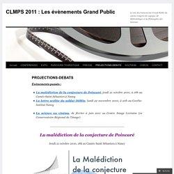 CLMPS 2011 : Les évènements Grand Public