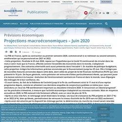 Projections macroéconomiques – Juin 2020