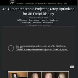 Projector Array for 3D Facial Display