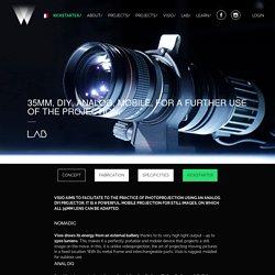 Visio : le Mobile projector puissant, mobile et analogique