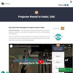 Projector Rentals in Dubai - HD,DVD, Digital Projectors Rentals Dubai, UAE