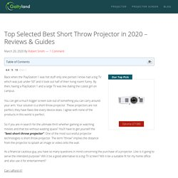 10 Best Short Throw Projector (April 2020) - Review & Guide - Gaityland