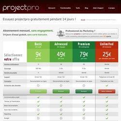 Tarifs Projectpro, choisissez l'offre la plus adaptée à vos besoins !