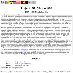 Projects 57, 58, and 58A
