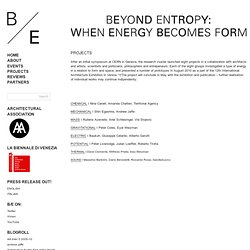 Projects - Beyond Entropy