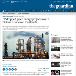 BP dropped green energy projects worth billions to focus on fossil fuels
