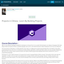 Projects in CSharp - Learn By Building Projects: vernonemrit