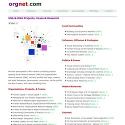 SNA & ONA Projects, Cases & Research by Orgnet, LLC