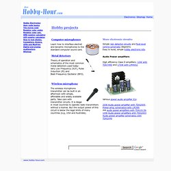 Hobby projects - Simple electronic circuits