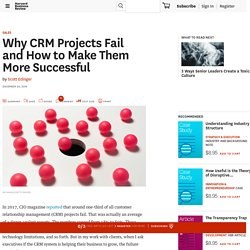 Why CRM Projects Fail and How to Make Them More Successful