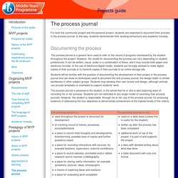 MYP Projects guide- Process Journal