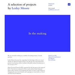 Projects by Lesley Moore