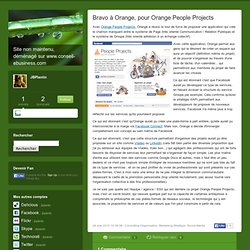 Bravo à Orange, pour Orange People Projects - JBlog Pro, by JB P