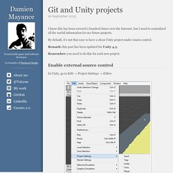 Git and Unity projects - Damien Mayance (Valryon)