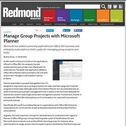 Manage Group Projects with Microsoft Planner