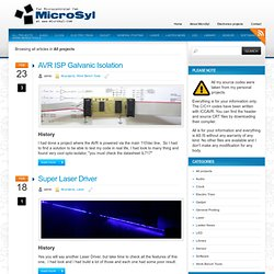 All projects « MicroSyl | MCU Electronics projects