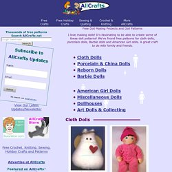 Free Doll Making Projects and Doll Patterns at AllCrafts