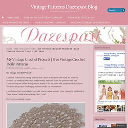 Free Vintage Crochet Doily Patterns « Vintage Patterns Dazespast Blog
