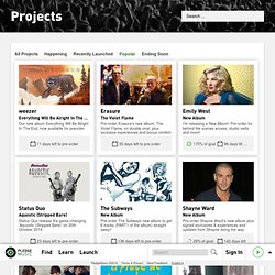 Projects on PledgeMusic