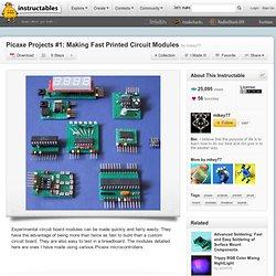 PICAXE projets n ° 1: Faire Modules circuit imprimé rapides