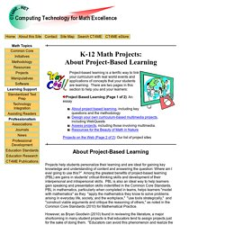 K-12 Math Projects: About Project-Based Learning