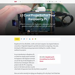 12 Cool Projects For Your Raspberry Pi