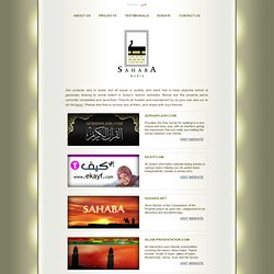 Projects - Sahaba Media