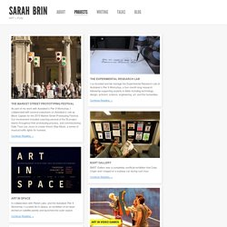 Projects « Sarah Brin