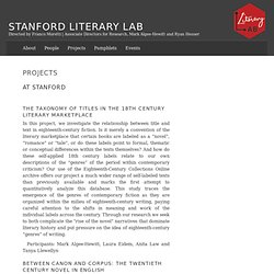 Projects – Stanford Literary Lab